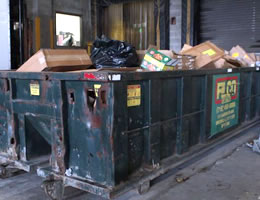 bad biometric screening location - garbage collection area in warehouse