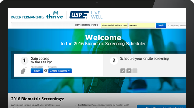 schedule onsite screening website